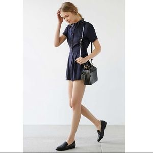 UO Cooperative Button-Front Shirt Romper